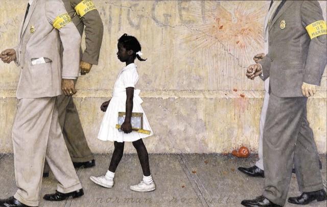 Resultado de imagem para ruby primeira criança negra a ir a escola